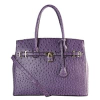 Diophy Front Lock Solid Dots Pattern Large Tote Handbag