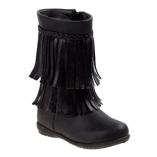 Rugged Bear  girl toddler boots w/fringe