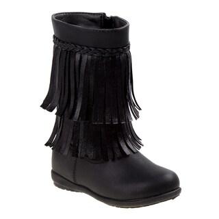Rugged Bear girl toddler boots w/fringe