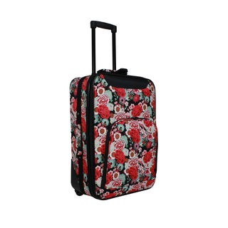 World Traveler Floral 20-inch Lightweight Carry-on Rolling Upright Suitcase
