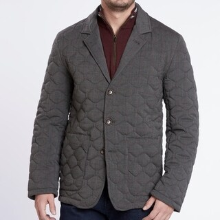 Medium Weight Heather Grey Quilted Blazer