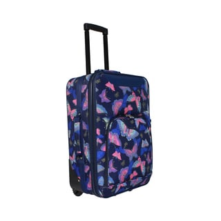World Traveler Butterfly 20-inch Lightweight Carry-on Rolling Upright Suitcase