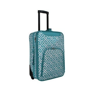 World Traveler Greek Key 20-inch Lightweight Carry-on Rolling Upright Suitcase