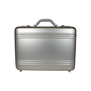 World Traveler European-Style Aluminum Silver Laptop Attache Case
