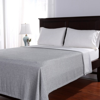 Berkshire Blanket Linen Blend Woven Bed Blanket