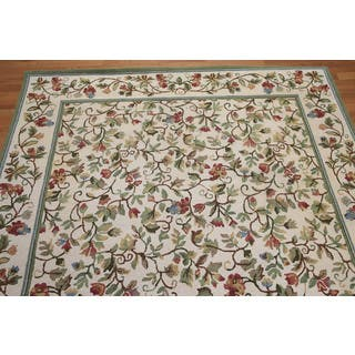 Rustic Country Cottage Hand Hooked Pure Wool Area Rug (6'x9')|https://ak1.ostkcdn.com/images/products/18038079/P24204488.jpg?impolicy=medium