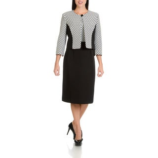 Danillo Women's Polka Dot Two Piece Dress Suit