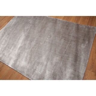 Ultra Glam Industrial Soild Grey Hand Loomed Modern Area Rug (5'x7')|https://ak1.ostkcdn.com/images/products/18038086/P24204490.jpg?_ostk_perf_=percv&impolicy=medium