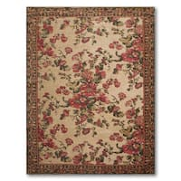 Cotton and Chenille Country Cottage Italian Aubusson Area Rug - multi