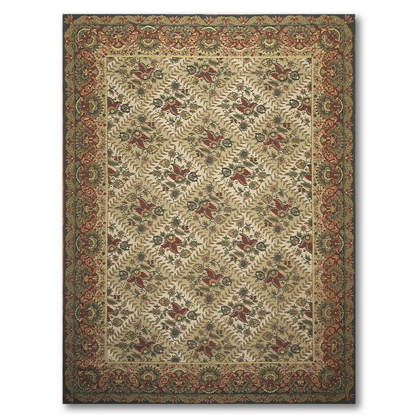 """Victorian Waverly Luxury Collection Hand Hooked Needlepoint Area Rug - 8'4""""x11'"""