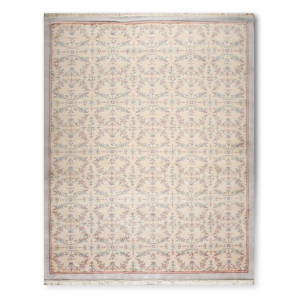 Floral Transitional Thick Pile Hand Knotted Persian Oriental Area Rug - 9'x12'