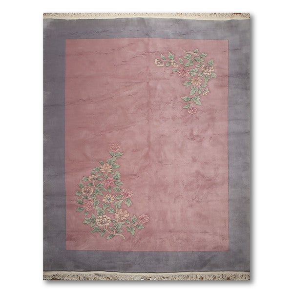 """Traditional European Thick Pile Aubusson Hand-Knotted Wool Area Rug (8'6""""x11'6"""") - multi"""