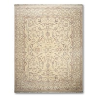 Pure Wool Victorian Traditional Hand Knotted Persian Oriental Area Rug - multi