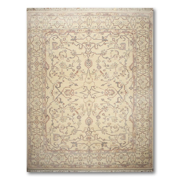 Pure Wool Victorian Traditional Hand Knotted Persian Oriental Area Rug - 9'x12'