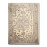 Thick Pile Heriz Classic Hand Knotted Traditional Persian Oriental Area Rug - 9'x12'