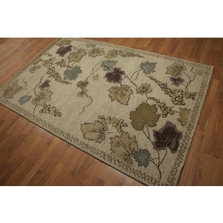 """Rustic Cottage Pure Wool Persian Oriental Rug (4'10""""x7'x10"""")"""