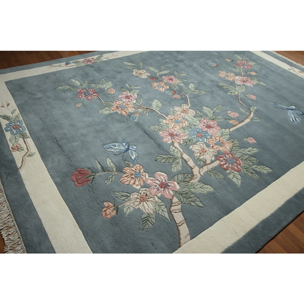Contemporary Glam Hand Knotted Thick Pile Persian Oriental Area Rug - multi