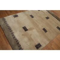 Boho Contemporary Pure Wool Persian Oriental Area Rug - multi