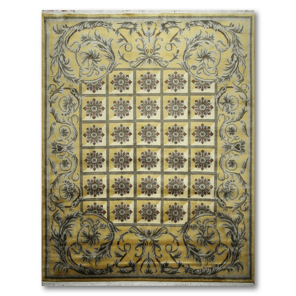 Craftsman Traditional Hand Knotted Tibetan Area Wool Rug - 8'x10'