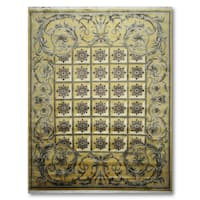 Craftsman Traditional Hand Knotted Tibetan Area Wool Rug - multi