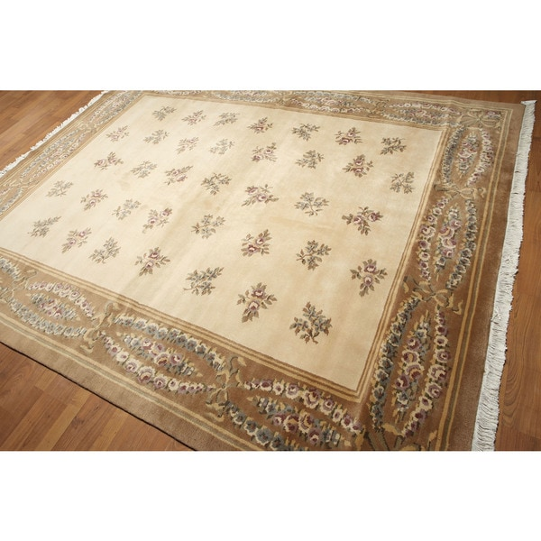 Eclectic Transitional Hand Knotted Tibetan Area Rug - 8'x10'