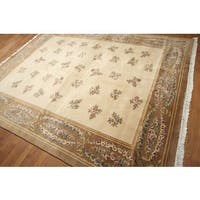 Eclectic Transitional Hand Knotted Tibetan Area Rug - multi