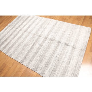 Modern Contemporary Bamboo Silk Hand Knotted Oriental Area Rug (5'x8')