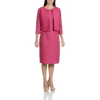 Danillo Women's Textured Two Piece Dress Suit