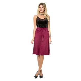 Sara Boo Vegan Suede Midi Skirt