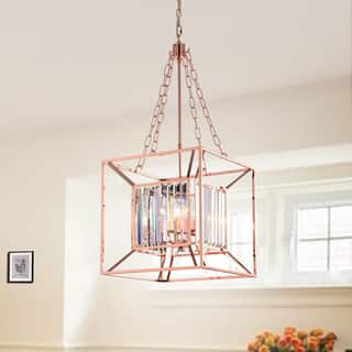 Buy rose gold finish ceiling lights online at overstock our judoc 4 light 16 inch square rose gold pendant aloadofball Choice Image