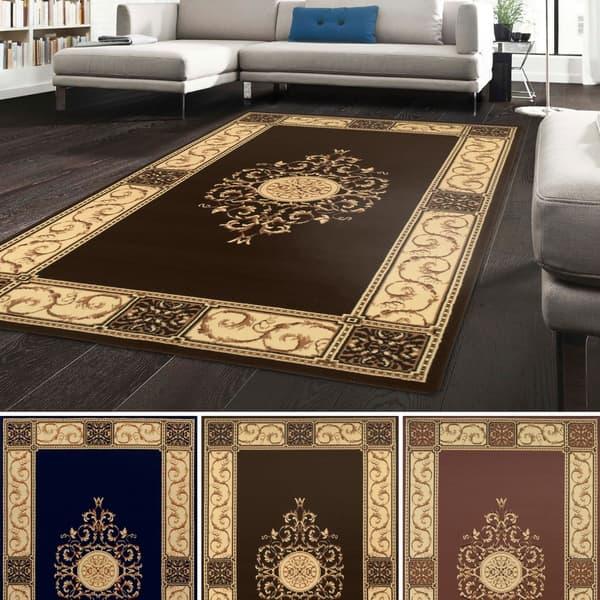 Shop Superior Designer Elegant Medallion Area Rug (8\' x 10\') - 8\' x ...