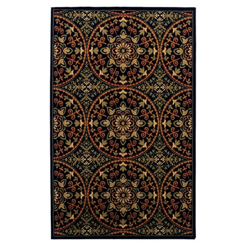 Superior Designer Fancy-Medallion Area Rug (8' x 10') - 8' x 10'