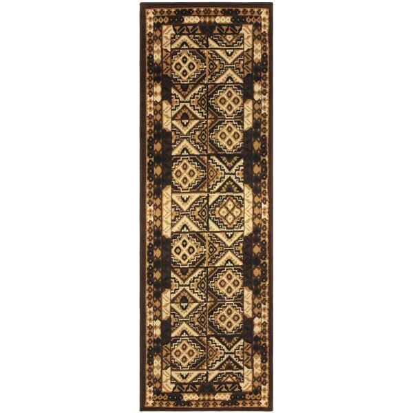 """Miranda Haus Designer Mosaic Area Rug (2'7"""" x 8') - 2'6"""" x 8'"""