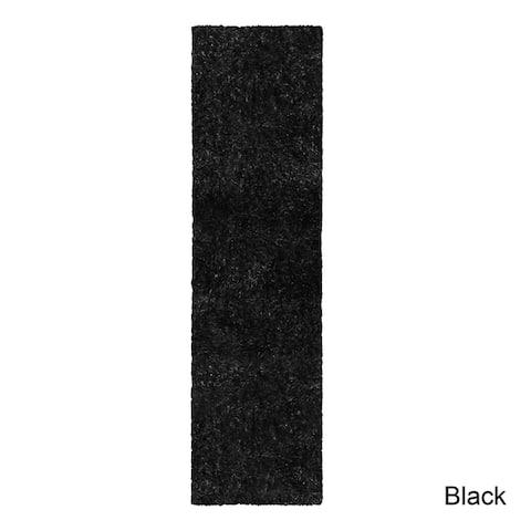 Superior Hand-tufted Plush Solid Shag Indoor Area Rug