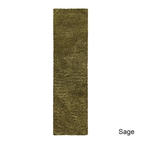 "Superior Elegant, Plush, Cozy and Hand Woven Shag Runner Rug (2'7""x8')"