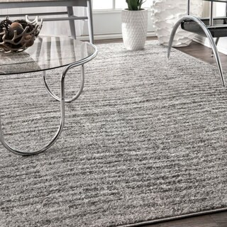 nuLOOM Contermporary Waves Solid Grey Rug (12' x 15')