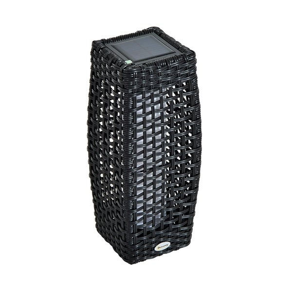 Outsunny Outdoor Floor Lamp Solar Ed Led Rattan