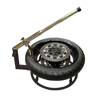 HomCom Motorcycle Tire Changing Stand with Adjustable Bead Breaker Tool