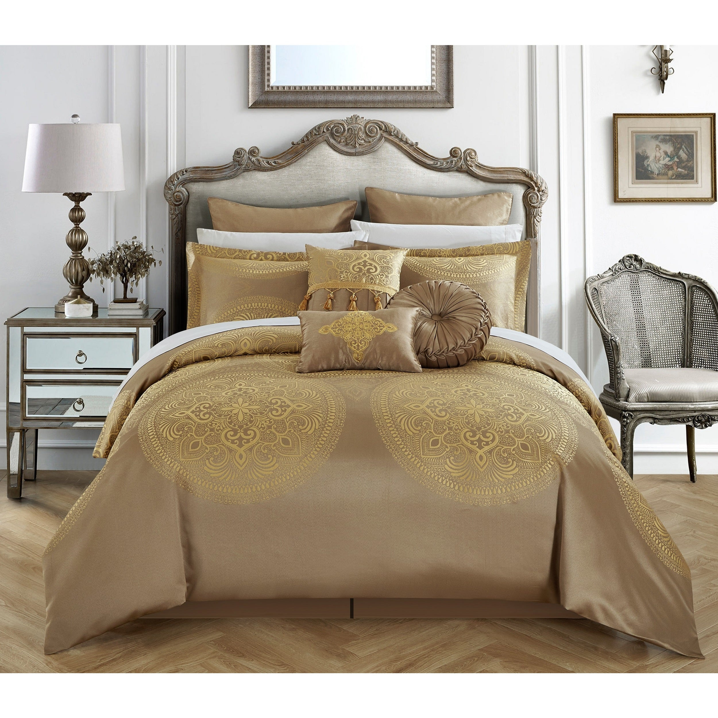 Chic Home 9 Piece Adana Gold Comforter Set On Sale Overstock 18038282