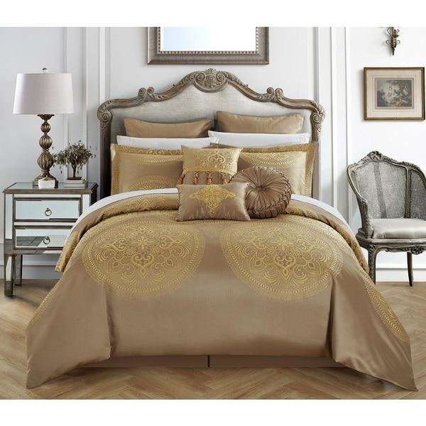 Chic Home 9-Piece Adana Gold Comforter Set