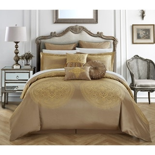 Attractive Chic Home 9 Piece Adana Gold Comforter Set
