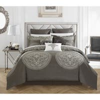 Chic Home 9-Piece Adana Grey Comforter Set