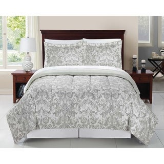 Kensie Grey 8PC Bed in a Bag Bedding Set