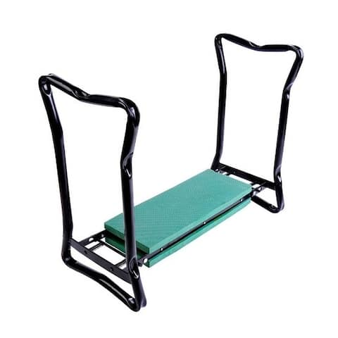 Outsunny Folding Garden Kneeler Bench with Padded Knee Protection and Spring-Loaded Handles