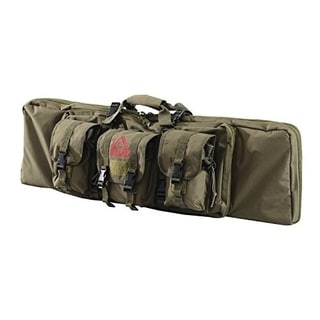 HomCom Soft Single Rifle Case with Pouches