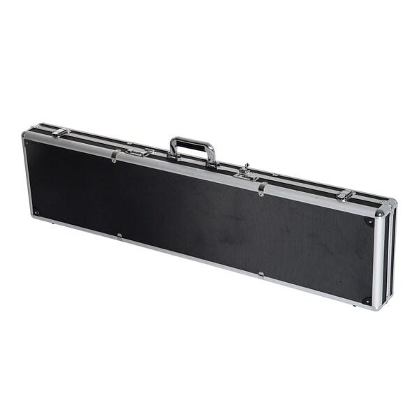 "HomCom 44"" Rifle / Shotgun Aluminum Combination Lock Gun Case - Black"