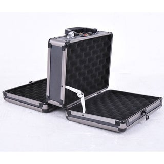 HomCom Double Sided Hard Box Gun Case with Combination Lock