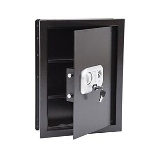 HomCom Digital Wall Mounted Home Security Storage Safe with Biometric Fingerprint Scan
