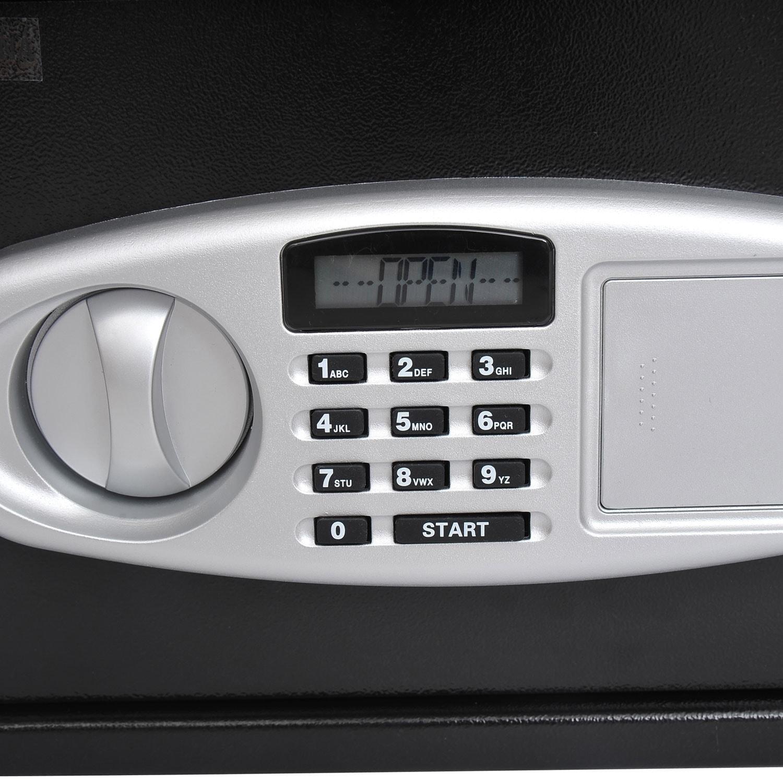 Aosom HomCom Electronic Digital Home Security Safe Box, B...