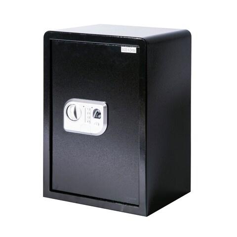 HomCom Large Fingerprint Electronic Gun Safe Box with Keypad Lock Security